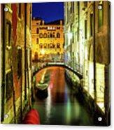 Nightfall In Venice Acrylic Print