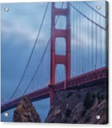 Nightfall Over Golden Gate Acrylic Print