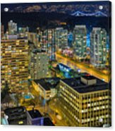 Nightlife On The Other End Of Robson Street Acrylic Print