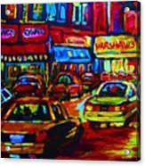 Nightlights On Main Street Acrylic Print