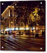 Nights, Lights Downtown Sj Acrylic Print
