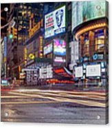 Nights On Broadway Acrylic Print
