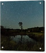 Nightscape And Dam Landscape Acrylic Print