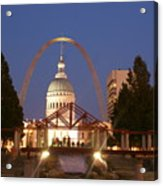Nighttime At The Arch Acrylic Print