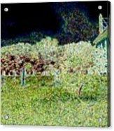 Nighttime In The Church Graveyard Acrylic Print