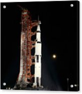 Nighttime View Of The Apollo 12 Space Acrylic Print