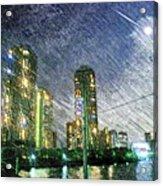 Tokyo River Acrylic Print