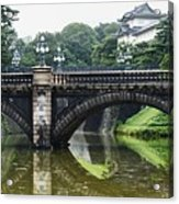 Nijubashi Bridge At Imperial Palace Acrylic Print
