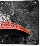 Nikko Red Bridge Acrylic Print