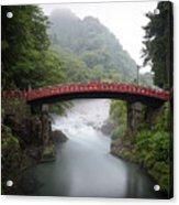 Nikko Shin-kyo Bridge Acrylic Print
