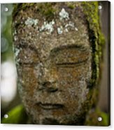 Nikko Stone Carved Face 2 Acrylic Print