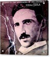 Nikola Tesla - Quote Acrylic Print