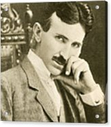 Nikola Tesla, Serbian-american Inventor Acrylic Print