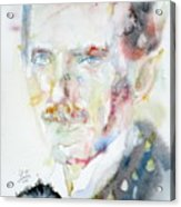 Nikola Tesla - Watercolor Portrait.3 Acrylic Print