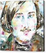 Nikolai Gogol - Watercolor Portrait Acrylic Print