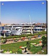 Nile Cruise Ships Aswan Acrylic Print