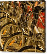 Bikes For Hire In Lyon Acrylic Print