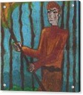 Nine Of Wands Illustrated Acrylic Print