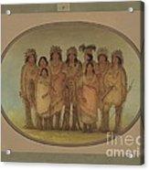 Nine Ojibbeway Indians In London Acrylic Print