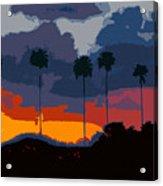 Nine Palms Acrylic Print