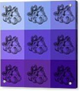 Nine Shades Of Blueberries Acrylic Print