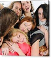 Nine Young Women Acrylic Print