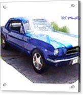 Nineteen Sixty-five Mustang Acrylic Print