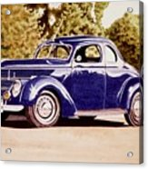 Nineteen Thirty Eight Ford Coupe Acrylic Print