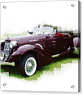 Nineteen Thirty-seven Auburn Speedster Acrylic Print