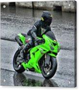 Ninja In The Rain Acrylic Print