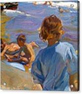 Ninos En La Playa. Valencia Acrylic Print