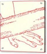 Ninth Station- Jesus Falls The Third Time Acrylic Print