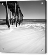 Nj Shore In Black And White Acrylic Print
