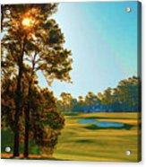 No. 9 Carolina Cherry 460 Yards Par 4 Acrylic Print