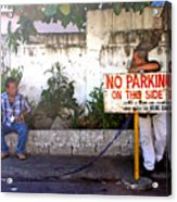 No Parking This Side Acrylic Print