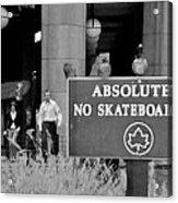 No Skateboarding Acrylic Print