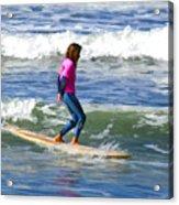 No Stress Surfing Acrylic Print