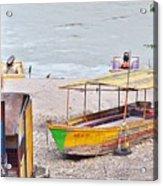 No Swimming - Rishikesh India Acrylic Print