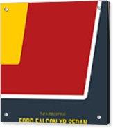 No011 My Mad Max Minimal Movie Car Poster Acrylic Print