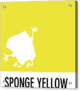No10 My Minimal Color Code Poster Spongebob Acrylic Print