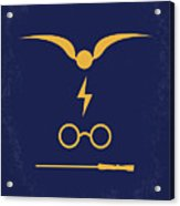 No101 My Harry Potter Minimal Movie Poster Acrylic Print