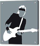No107 My Mark Knopfler Minimal Music Poster Acrylic Print