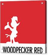 No12 My Minimal Color Code Poster Woody Woodpecker Acrylic Print