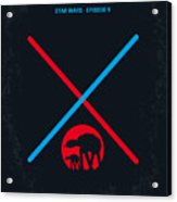 No155 My Star Wars Episode V The Empire Strikes Back Minimal Movie Poster Acrylic Print