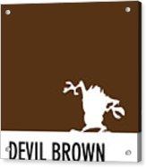 No16 My Minimal Color Code Poster Tasmanian Devil Acrylic Print