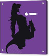 No201 My Jennifer Lopez Minimal Music Poster Acrylic Print