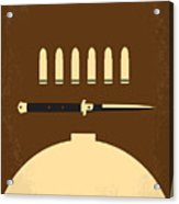 No318 My Rebel Without A Cause Minimal Movie Poster Acrylic Print