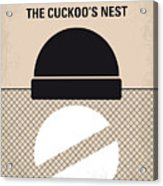 No454 My One Flew Over The Cuckoos Nest Minimal Movie Poster Acrylic Print