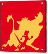 No512 My The Lion King Minimal Movie Poster Acrylic Print