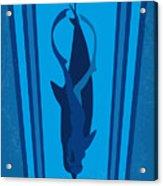 No577 My Big Blue Minimal Movie Poster Acrylic Print